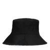 Reversible bucket hat zwart en roze