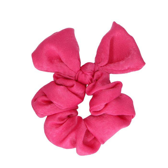 Roze scrunchie met strikje