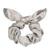 Zilveren scrunchie met strikje