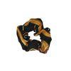 Zwarte scrunchie met print