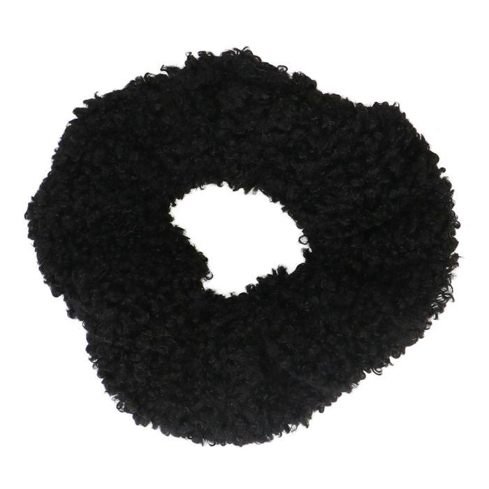 Zwarte teddy scrunchie