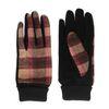 Beigefarbene Handschuhe mit rosa Print