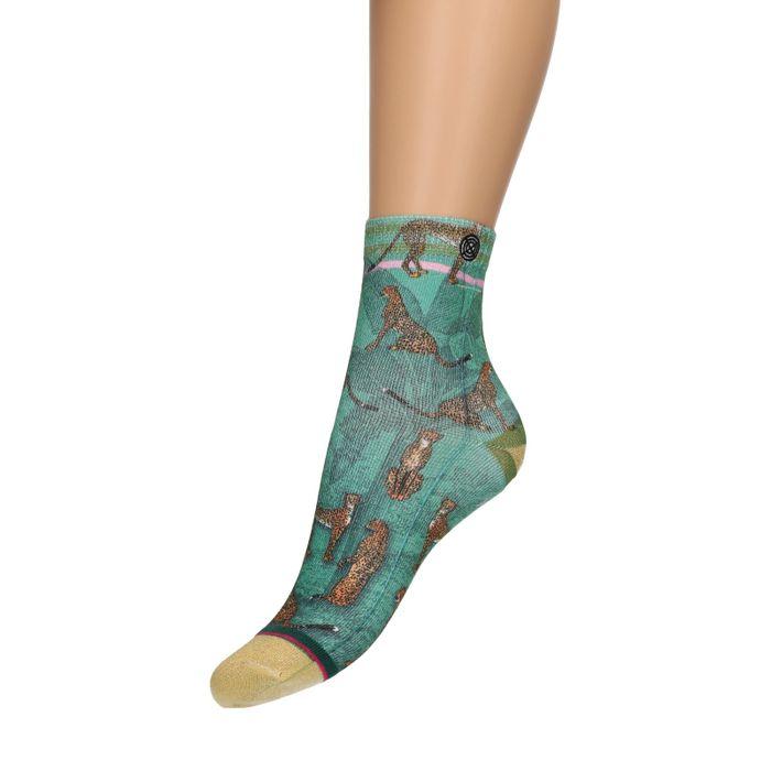 XPOOS Socken mit Leoparden-Aufdruck