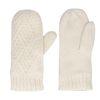 Offwhite Strick-Handschuhe