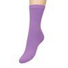 Lilafarbene Ripp-Socken