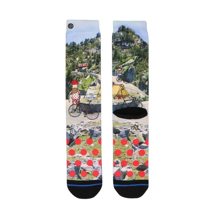 XPOOOS Socken mit Rennradfahrer-Aufdruck