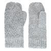 Graue Strick-Handschuhe