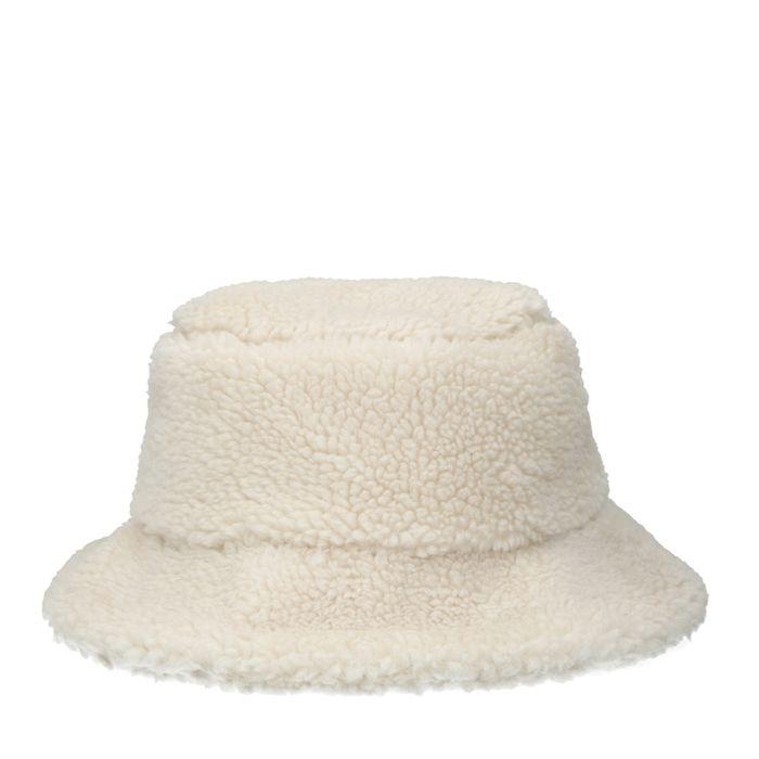 Offwhite Bucket Hat im Teddy-Look