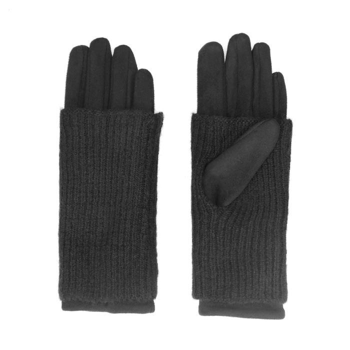Doppellagige schwarze Handschuhe