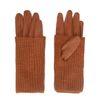 Doppellagige cognacfarbene Handschuhe