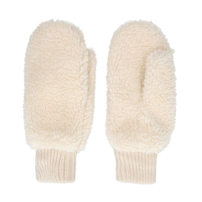Moufles duveteuses - blanc cassé