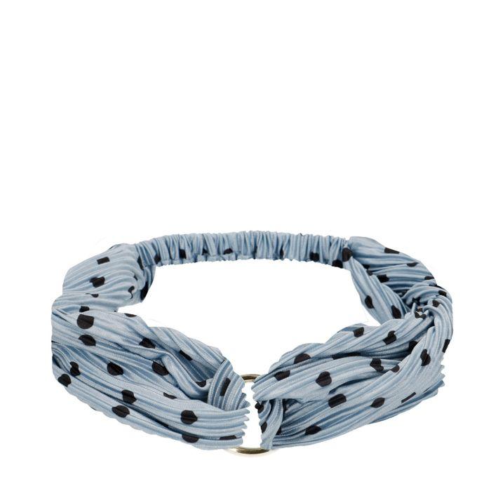 Bandeau plissé avec anneau - bleu