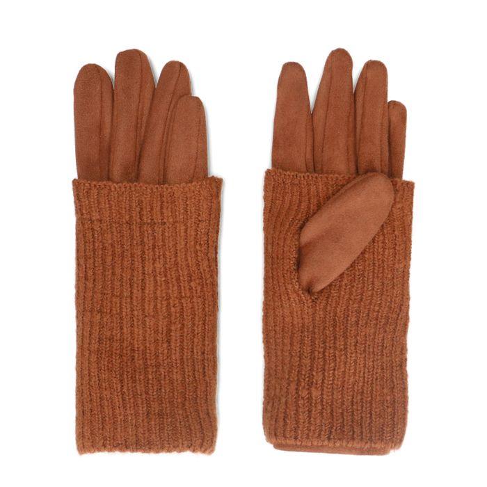 Gants doubles - marron
