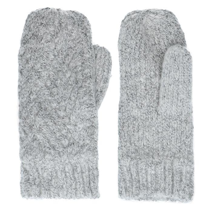 Moufles tricotées - gris