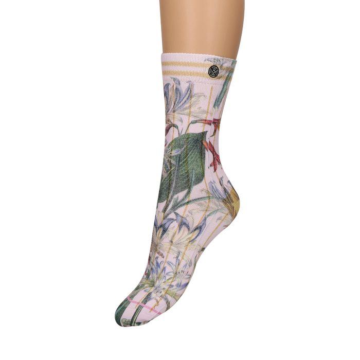 XPOOOS Chaussettes avec imprimé fleuri