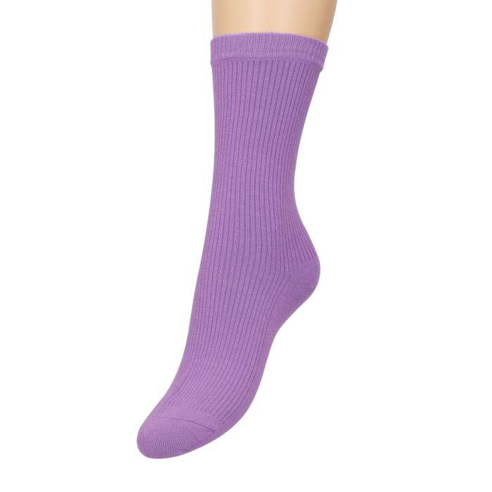 Chaussettes côtelées - violet
