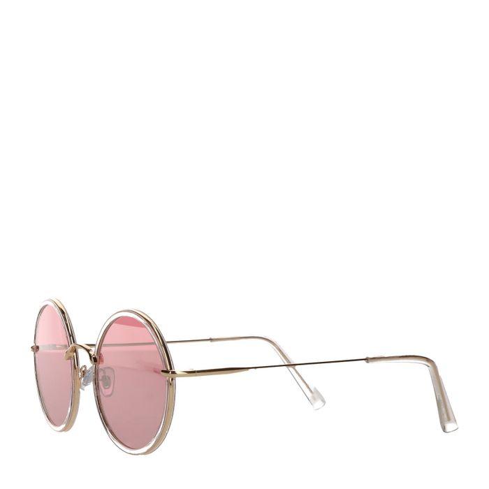 Runde durchsichtige Retro-Sonnenbrille