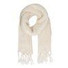 Écharpe tricotée - blanc cassé