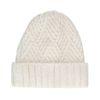 Bonnet tricoté - blanc cassé
