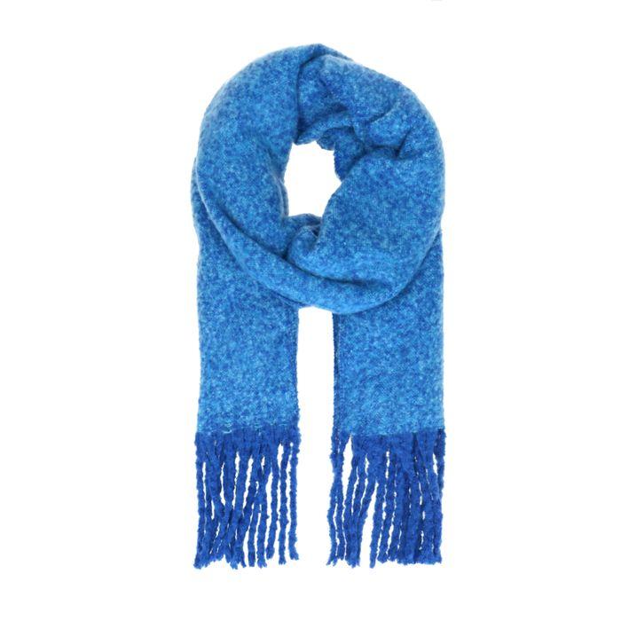 Écharpe tricotée - bleu cobalt