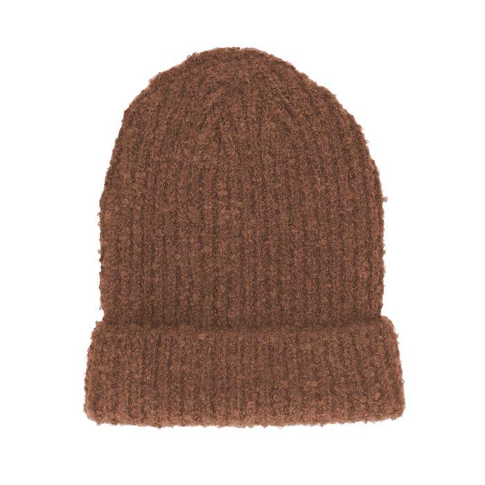 Bonnet tricoté - camel