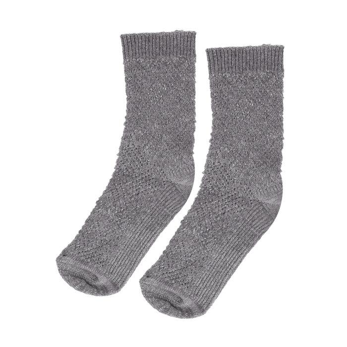 Chaussettes pailletées tricotées - gris