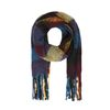 Écharpe multicolore avec imprimé carreaux