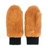 Moufles duveteuses - marron
