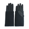 Gants avec partie tricotée - noir