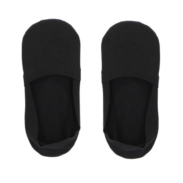 Socquettes invisibles 2 paires - noir