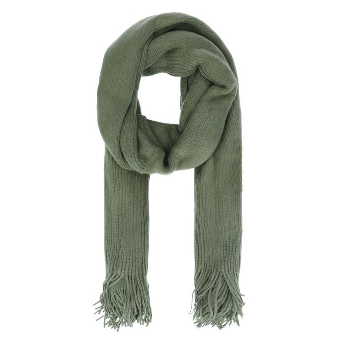 Écharpe duveteuse - vert kaki