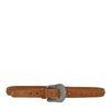 Cognacfarbene Veloursleder-Gürtel im Western-Style