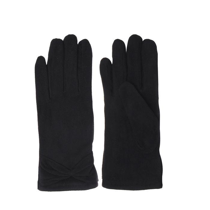Schwarze Handschuhe mit Schleife