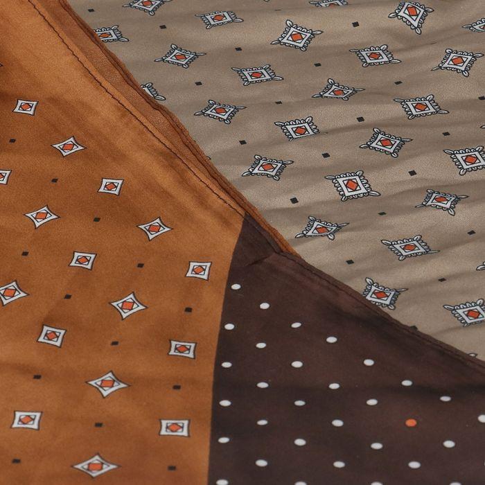 Foulard avec imprimés - marron