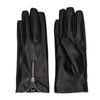 Gants aspect cuir avec fermeture éclair - noir