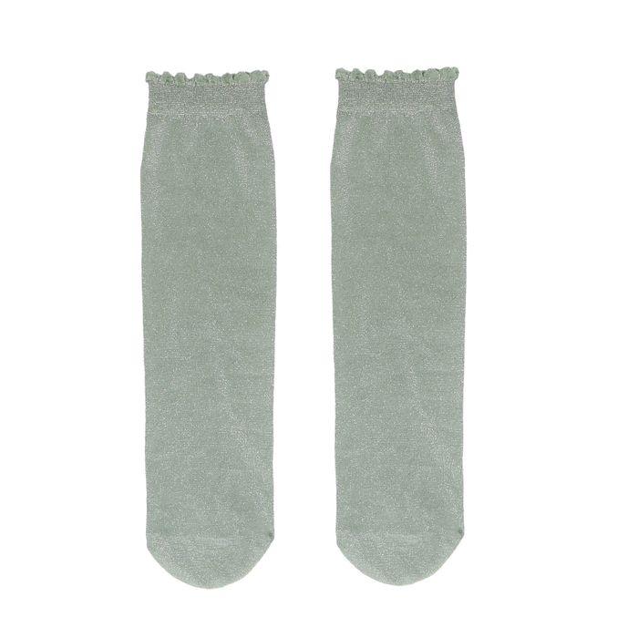 Chaussettes pailletées - vert