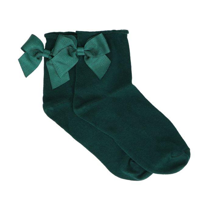Chaussettes avec nœud - vert foncé