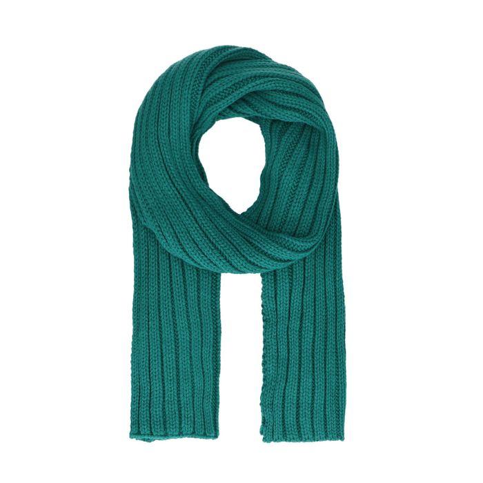 Écharpe en grosse maille - vert émeraude