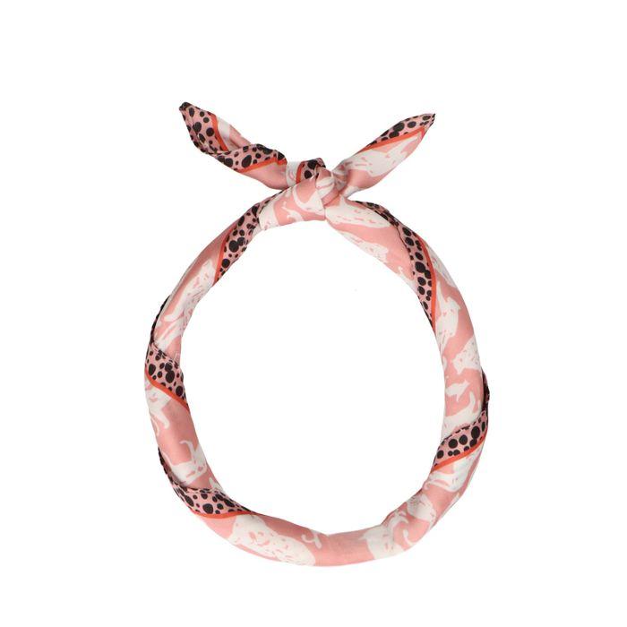 Foulard avec panthères - rose