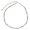 Collier avec perles dorées - violet