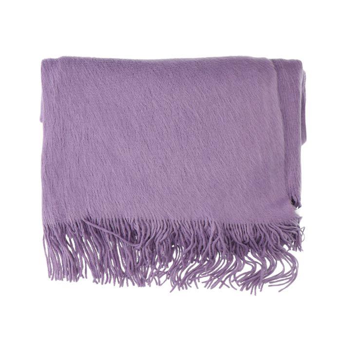 Écharpe duveteuse - lilas