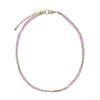 Collier ras du cou avec perles - lilas