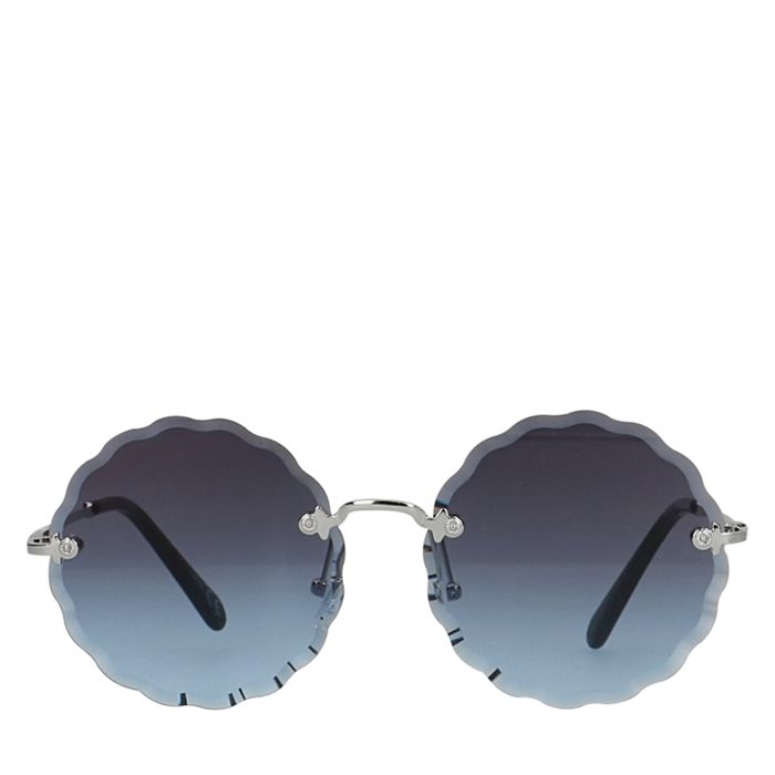 Runde blaue Sonnenbrille