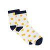 Weiße Socken mit Glitzer und Punkten