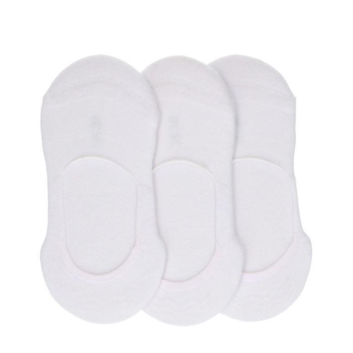 3er-Set Sneakersocken unisex weiß