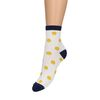 Witte sokken met glitter detail en stippen
