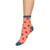 Roze sokken met glitter detail en stippen