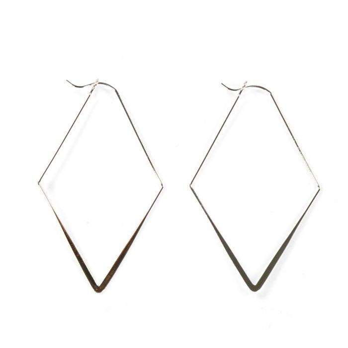 Geometrische oorbellen zilver