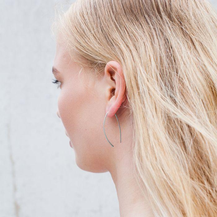 Doortrek oorbellen zilver