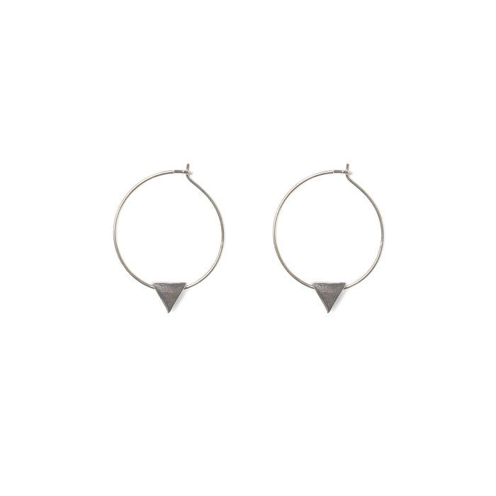 Oorringen met triangle zilver